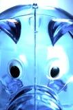 Light blue piggy bank Royalty Free Stock Photography