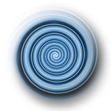Light blue plastic spiral Stock Image
