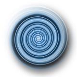 Light blue plastic spiral. An illustration of a plastic spiral stock illustration