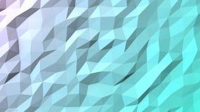 Light Blue Polygonal Geometric Surface Loop stock video footage