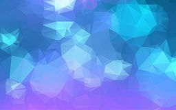 Light Blue purple Low poly crystal background. Polygon design pattern. Low poly vector illustration, low polygon background Stock Image