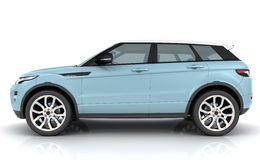 Light blue Range rover Royalty Free Stock Photo