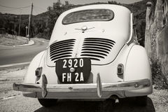 Light blue Renault 4CV old-timer economy car Royalty Free Stock Photography