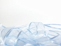 Light blue ribbon. A light blue fabric ribbon on a white background vector illustration