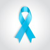 Light blue ribbon as symbol of prostate cancer Royalty Free Stock Images