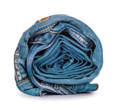 Light blue roll jeans Stock Image