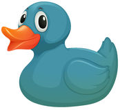 A light blue rubber duckie Royalty Free Stock Photo