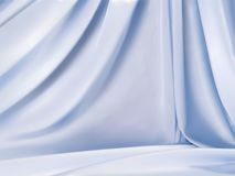 Light blue satin. Beautiful droop style fabric background for design uses in 3d illustration Royalty Free Stock Photo