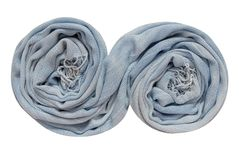 The light blue scarf is folds in spiral shape. Stock Photography