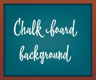 Light Blue school chalkboard with frame . Template for your design. Royalty Free Stock Images