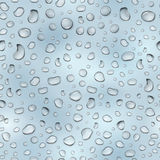 Light blue seamless pattern of water drops Royalty Free Stock Image