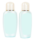 Light blue shampoo bottles Stock Photos