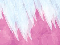 Pink light blue background. Light blue shapes on pink orbs abstract background Stock Photo