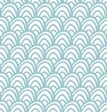 Blue shell pattern royalty free illustration