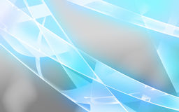 Light blue shiny lines. Gray background with light blue shiny lines Stock Photos