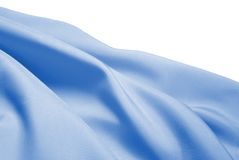 Light blue silk. Over white Royalty Free Stock Images