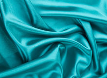 Light blue silk texture cloth. Royalty Free Stock Photos
