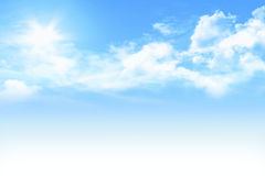 Light blue sky Royalty Free Stock Photos