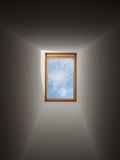 Light and Blue Sky from Roof Window Royalty Free Stock Photo
