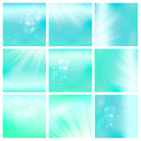 Light blue sky or water blur. Abstract blur light blue sky or aqua background, blurred turquoise water with sunny elements, vector illustration set for calm Stock Photo