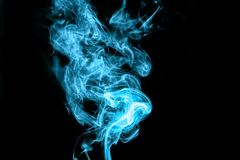 Light blue smoke Royalty Free Stock Photos