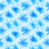 Light blue splashes pattern. Watercolor abstract seamless pattern. Background with scattered light blue splashes and stains. Hand painted lively tile of loose vector illustration