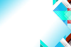 Light blue square geometric shape overlap abstract background Royalty Free Stock Photo