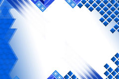 Light blue square and triangle, abstract background Royalty Free Stock Image