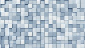 Light blue squares background, 3D rendering. Swaying blue squares background 3D Stock Image
