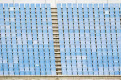Light blue stadium seats Stock Photography