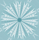 Light blue star shape on low contrasting background, Royalty Free Stock Images