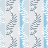 Light blue striped foral pattern Stock Images