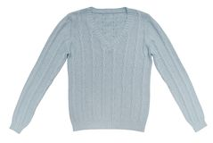 Light blue sweater. Is on white Royalty Free Stock Photography