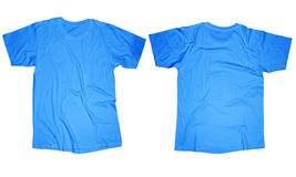 Light Blue T-Shirt Template Stock Image