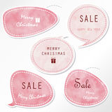 Light blue tag on christmas holiday with gift box icon Stock Photos