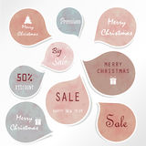 Light blue tag on christmas holiday with gift box icon Royalty Free Stock Photography