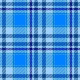 Light blue tartan plaid seamless pattern texture. Background Royalty Free Stock Photos