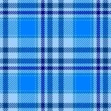 Light blue tartan plaid seamless pattern texture Royalty Free Stock Photos
