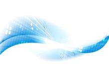 Light blue tech motion background. Waves vector design Stock Images