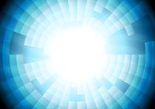 Light blue tech vector gear background Stock Images