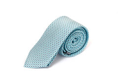 Light Blue tie isolated on white background Royalty Free Stock Image