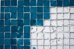 Light blue tiles background. Light blue tiles on white foundation for background Royalty Free Stock Images