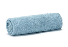 Light blue towel Royalty Free Stock Photography
