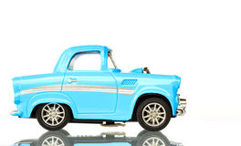 Light Blue Toy car Stock Images
