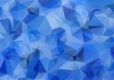 Light blue triangle polygonal background Stock Photos