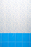 Light Blue and Turquoise Ceramic Wall. In Bathroom Stock Images
