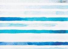 Light blue and turquoise watercolor lines. On white royalty free stock photo