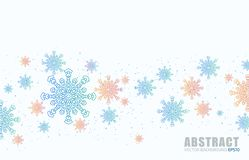 Light BLUE vector pattern with christmas snowflakes. Modern geometrical abstract illustration with crystals of ice. The pattern ca stock illustration