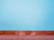 Light blue wall and floor tiles Stock Image