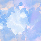 Light and blue watercolor background. Modern Royalty Free Stock Image